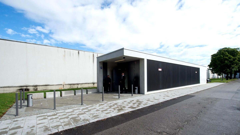 Hochsicherheits-Gerichtssaal der Justizvollzugsanstalt München-Stadelheim