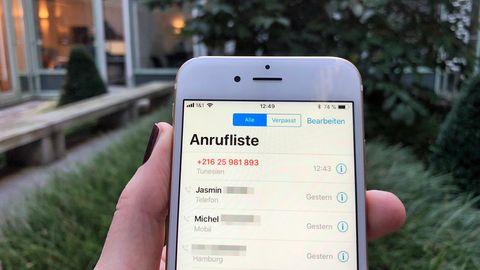 Ping Calls Abzocke Anruf verpasst +21625981893