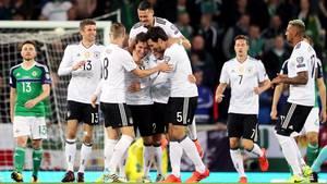 Deutschland Nordirland: Jubel der Spieler