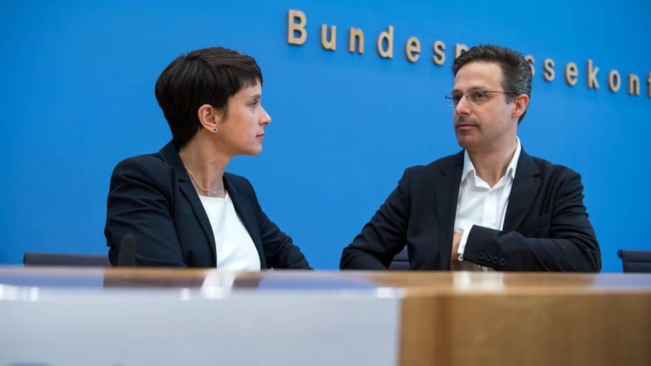 Die ehemaligen AfD-Politiker Frauke Petry und Marcus Pretzell