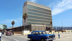 Die US-amerikanische Botschaft auf Kuba