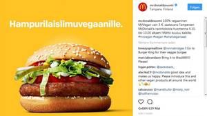 McDonaelds testet einen veganen Burger