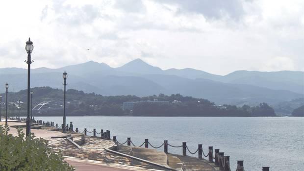 Bucht von Minamata in Japan