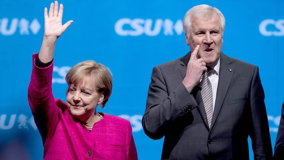 Angela Merkel und Horst Seehofer: Einigung zur Obergrenze
