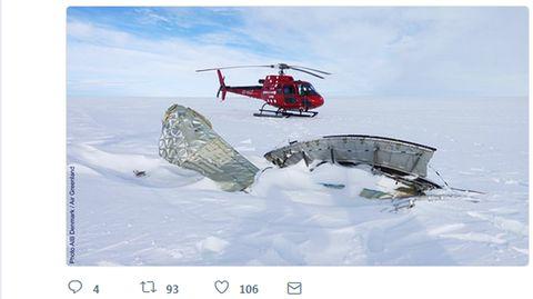 Reste des über Grönland explodierten A380-Triebwerks