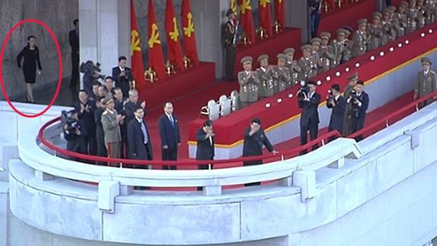 Kim Yo Jong bei Militärparade