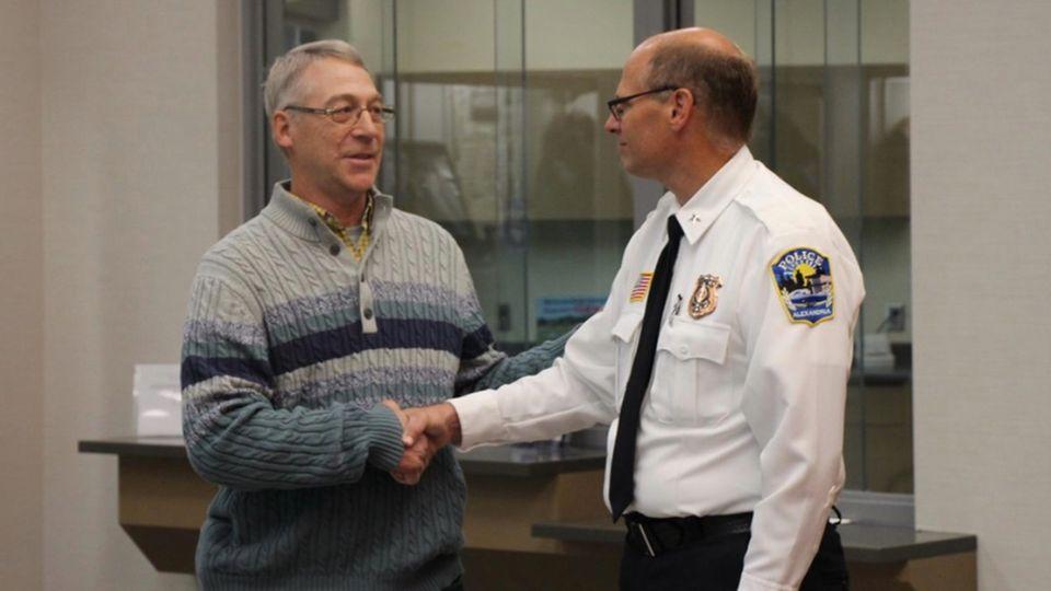 Earl Melchert und Polizeichef Rick Wyffels