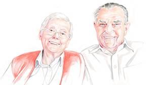 Elvira, 92, und Fortek, 97, leben in Mieszkowice in Polen