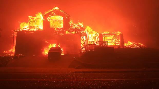 Kalifornien Wandbrände
