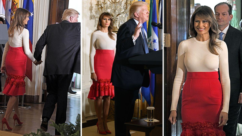 Trump nackt Melania  Melania Trump