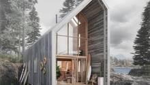 Die Surfer-Hütte kann man an der Front komplett verglasen.