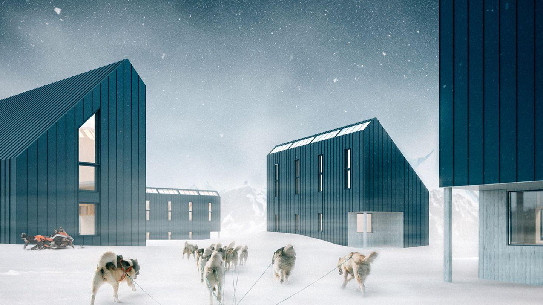 Dieses Hütten-Dorf zeigt die Möglichkeiten der Bausätze.