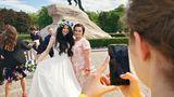 """Der """"Eherne Reiter"""", Zar Peter der Große, ziert viele Petersburger Hochzeitsalben."""