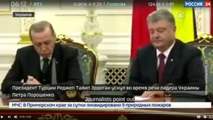 Während einer Pressekonferenz nickte Recip Tayyip Erdogan vor laufenden Kameras ein