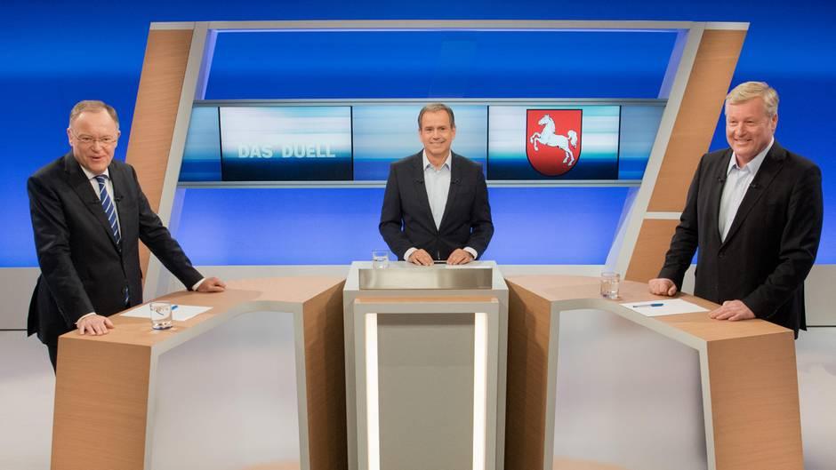 Landtagswahl in Niedersachsen: Althusmann schaltet im TV-Duell auf Attacke