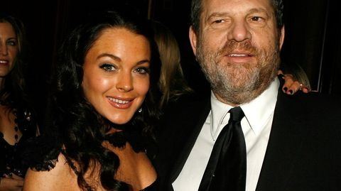 Lindsay Lohan und Harvey Weinstein