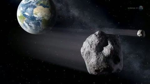 Am 15. Februar 2013 schrammte der Asteroid 2012 DA14 knapp an der Erde vorbei (Archiv)