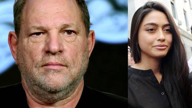 Harvey Weinstein und Ambra Battilana Gutierrez