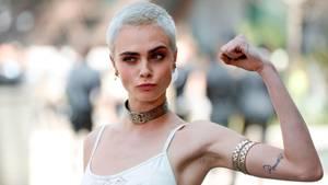 Cara Delevingne bei einer Fashion-Show von Chanel im Juli in Paris