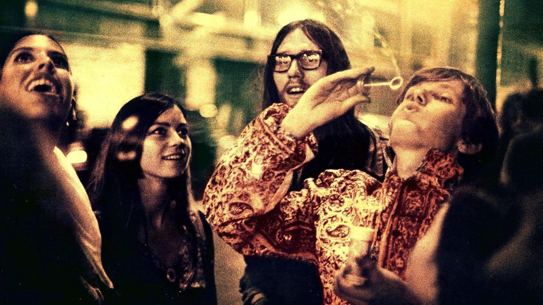 Hippies vor dem UFO Club in London, 1968