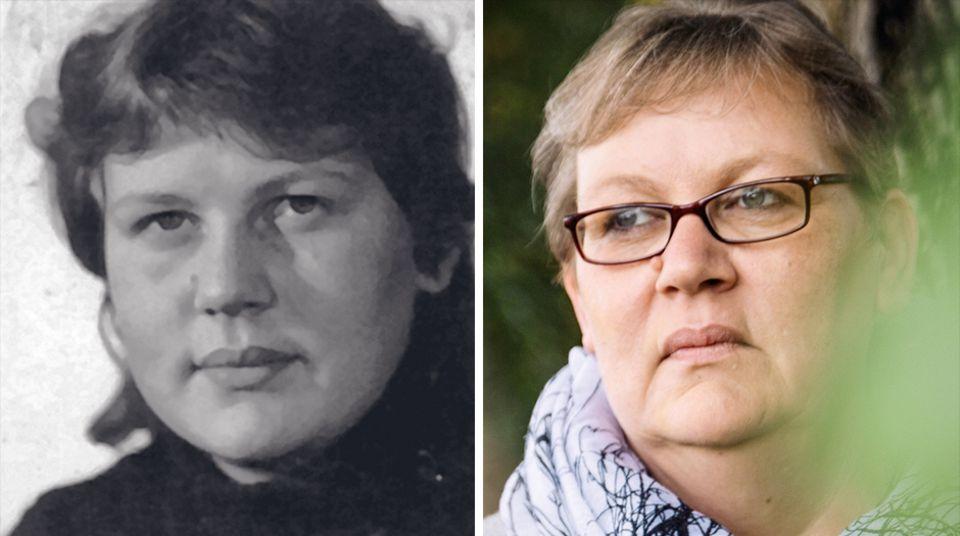 Corinna Thalheim mit 15 und heute, mit 50. Sie hatte keine Chance gegen den Direktor im Jugendwerkhof Torgau