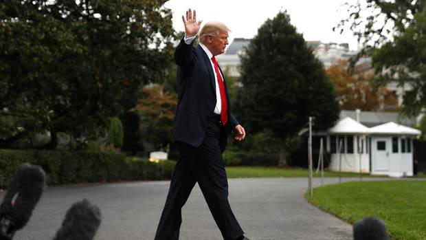 Auf Abstand: Donald Trumps Verhältnis zu den Medien ist frostig