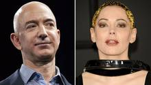 Jeff Bezos, Rose McGowan