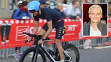 Thorsten Schröder, Tagesschausprecher und Triathlet, hier beim Ironman in Hamburg