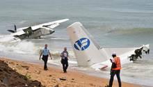 Vier tote, sechs verletzte: Das ist die Bilanz eines Flugzeugabsturzes an der Elfenbeinküste nahe der Stadt Abidjan