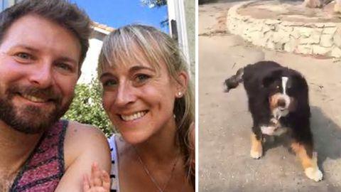 Wieder vereint: Familie Widen und Familienhund Izzy