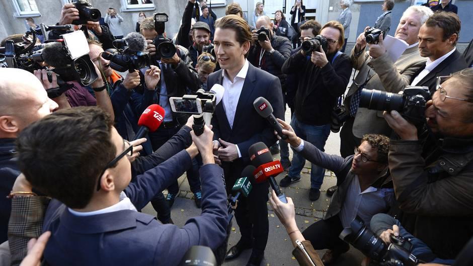 Sebastian Kurz Österreich Journalisten