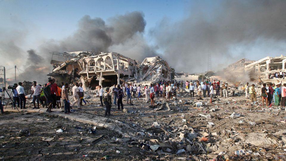 Somalia - Mogadischu - Anschlag - Explosion