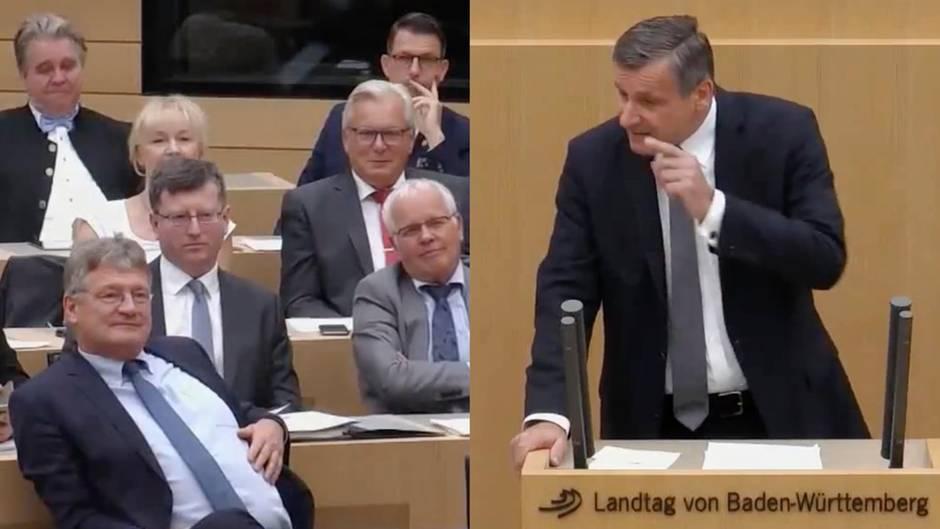 Landtag in Baden-Württemberg: FDP-Fraktionschef Hans-Ulrich Rülke liest AfD die Leviten - und landet Viral-Hit