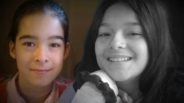 Maria-Andrea und ihre Zwillingsschwester Ana-Sofia (12), die vor sieben Wochen bei einem Unfall in einem Pool ums Leben kam.