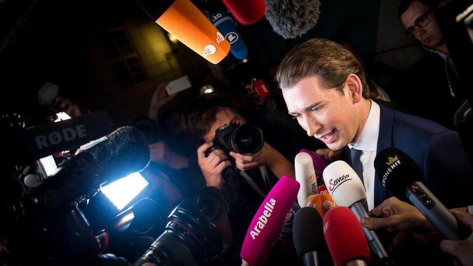 """Er wurde zur Zielscheibe des Satiremagazins """"Titanic"""": Sebastian Kurz von der Österreichischen Volkspartei."""