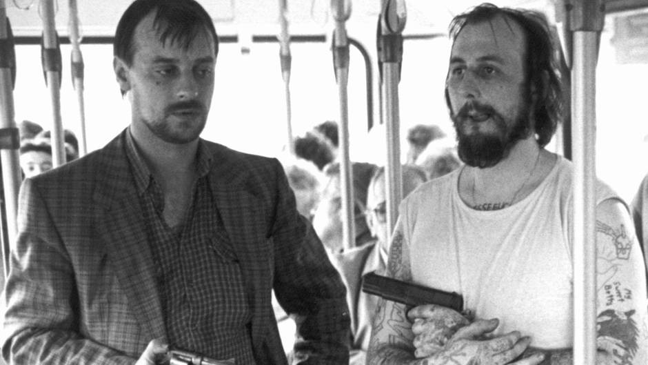 Die bewaffneten Geiselnehmer von Gladbeck: Dieter Degowski (l) und Hans-Jürgen Rösner