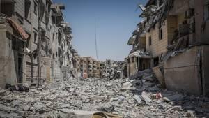 Der seit Juni währende Kampf zwischen dem IS und der SDF hat Al-Rakka größtenteils zerstört