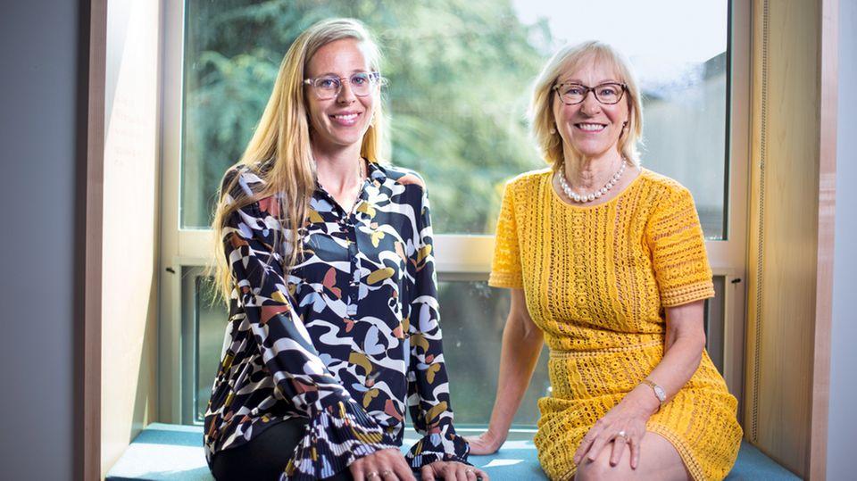 Patricia Kuhl (r.) und Naja Ferjan Ramirez vom I-Labs in Seattle