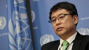 Nordkoreas stellvertretender UN-Botschafter Kim In Ryong sprach vor den Vereinten Nationen