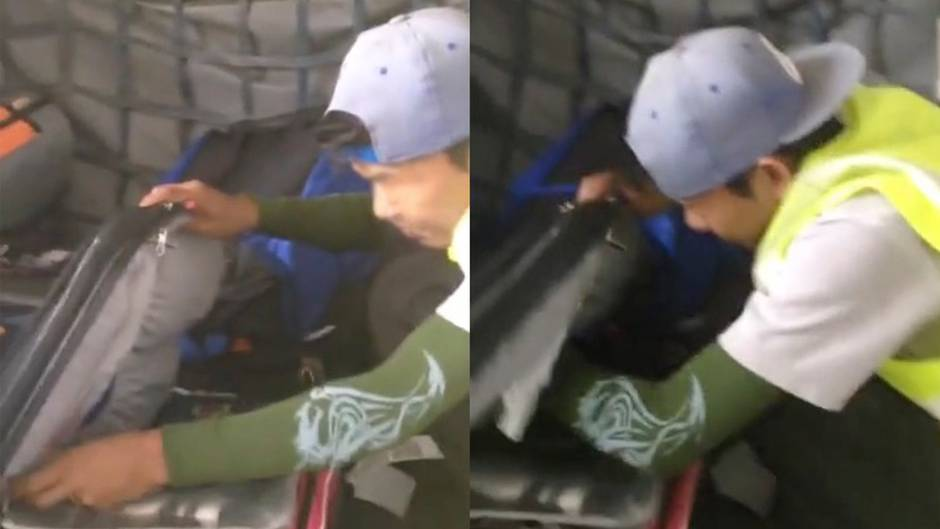 Dieb im Flugzeug: Gepäckabfertiger räumt Koffer im Frachtraum aus - doch er wird gefilmt