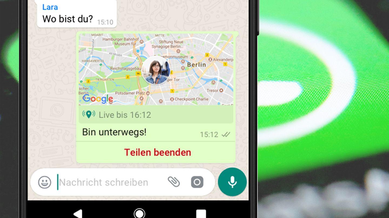 Whatsapp So Funktioniert Das Live Tracking Des Messengers Stern De