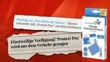 Nachdem die irreführende Abbildung mit dem Hammer auf der Verpackung von ProtectPax für Diskussionen sorgte, wurde das Layout der Schachtel geändert.