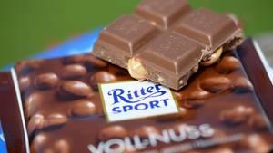 Quadratische Schokoladentafel von Ritter Sport