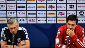 FC Bayern: Carlo Ancelotti und Mats Hummels