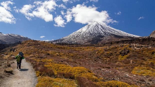 Langsam aufwärts: Der 1978 Meter hohe Mount Tongariro