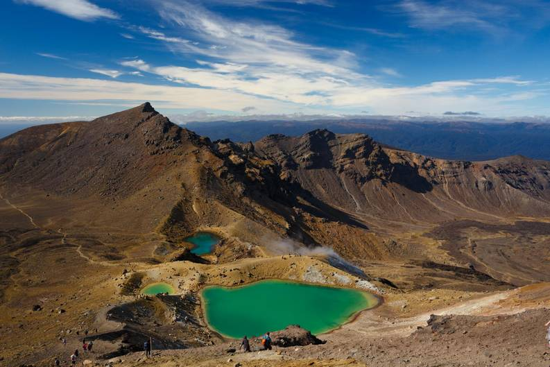 Landschaftaus einer anderen Welt im Tongariro National Park: Auf dem Gipfel des Red Crater.
