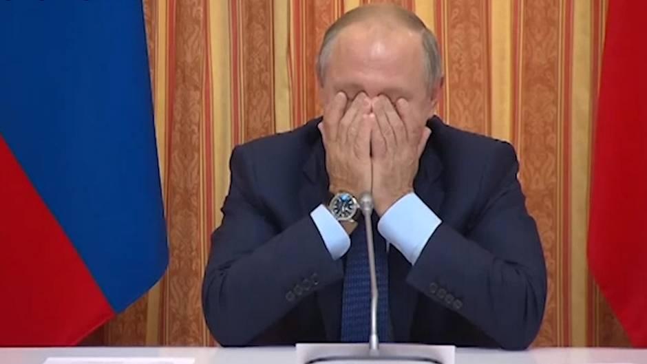 Gewagte Exportidee: Putin lacht sich über eigenen Minister schlapp