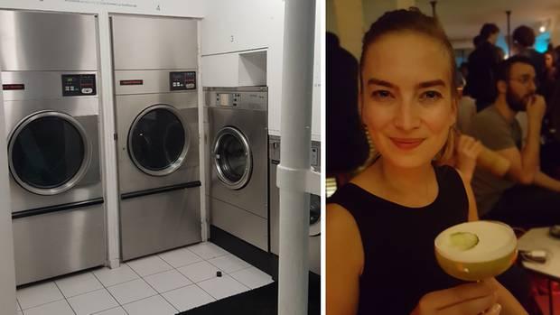 Hinter Waschmaschine Nummer vier gibt's Drinks