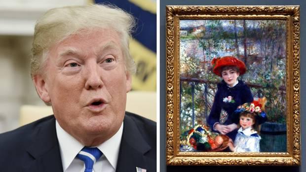 """Donald Trump glaubt, das Original von Renoirs """"zwei Schwestern"""" zu besitzen."""