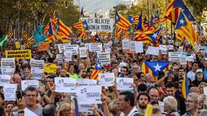 Katalonien Demonstration